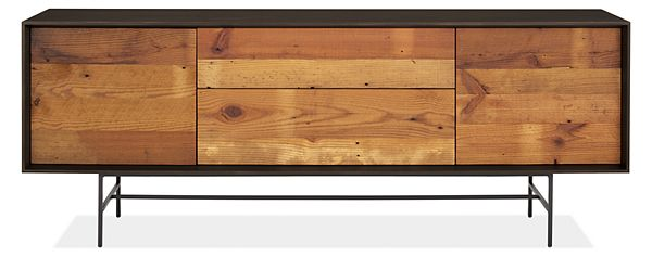 Mckean Media Cabinets In Reclaimed Wood
