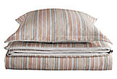 Millay Duvet Cover & Shams in Grey/Spice