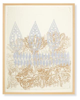 John Robshaw, Sri-Aurobindo 2013, Limited Edition Woodblock Print