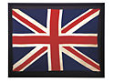 Vintage United Kingdom Flag with Black Frame