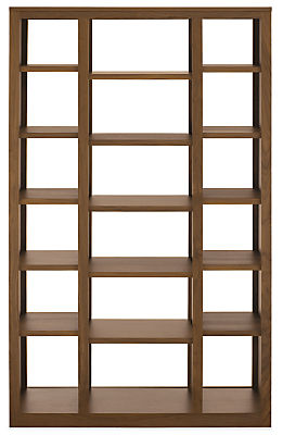 Woodwind 44w 17d 72h Triple Open-Back Bookcase