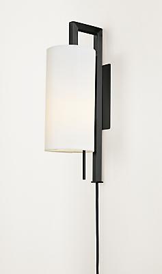 Leslie Wall Sconce Plug In Modern Wall Sconces Modern Lighting Room Board