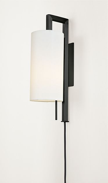 Leslie Plug In Wall Sconce Living
