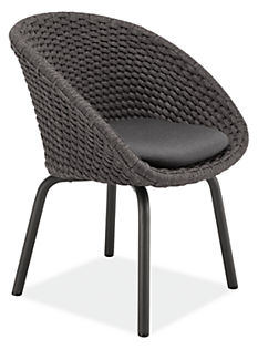 Flet Side Chair with Slate Cushions
