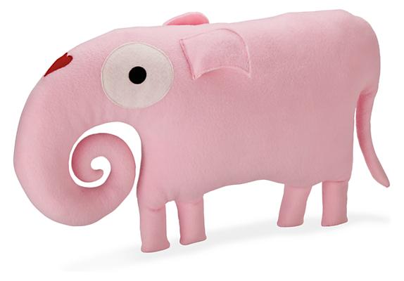 Indy Plush Pink Elephant Pillow