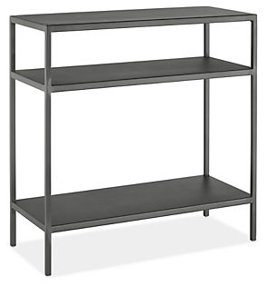 Slim 24w 10d 24h End Table with Shelves