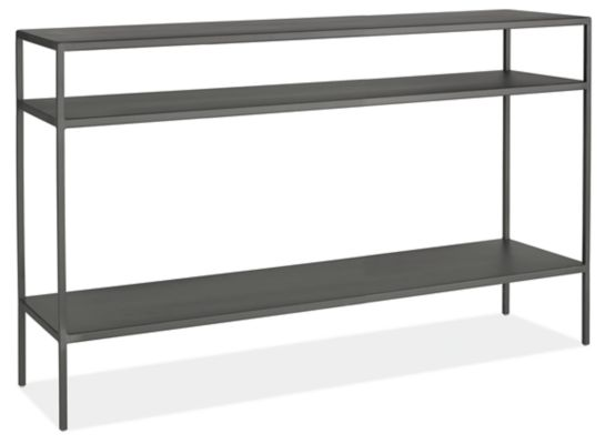Slim Modern Console Tables in Natural Steel Modern Console Tables
