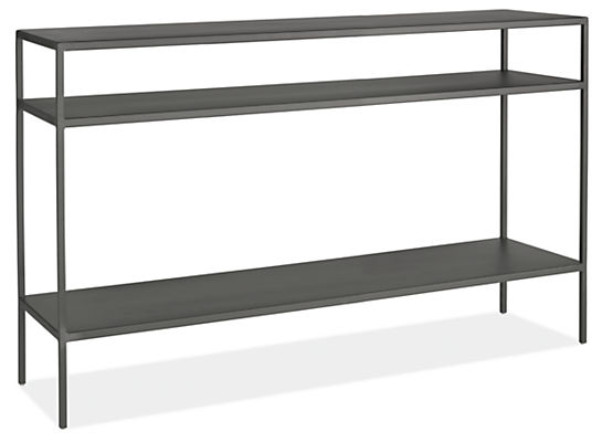 slim modern console tables in natural steel - modern console tables