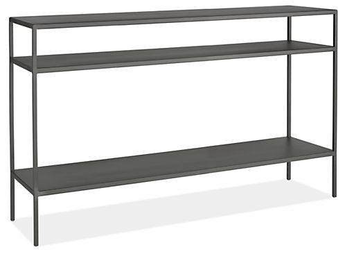 Slim Modern Console Tables In Natural Steel Modern Console Tables - Room and board console table