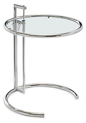 Eileen Gray 20 diam 25-40h Round End Table