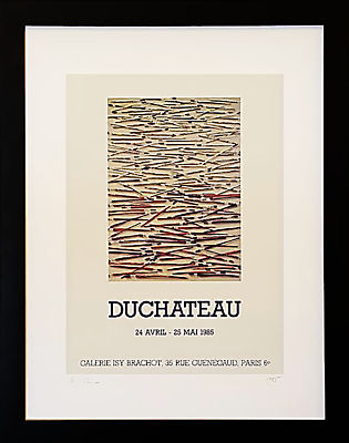 Vintage French Gallery Poster, Hugo Duchateau