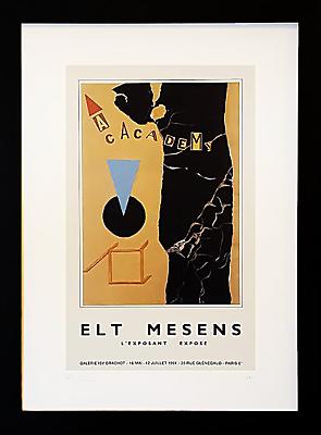 Vintage French Gallery Poster, ELT Mesens