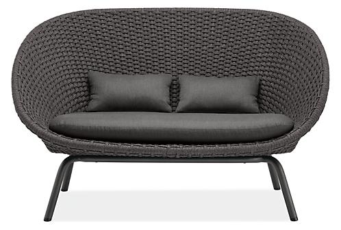 "Flet 60"" Sofa with Slate Cushion"