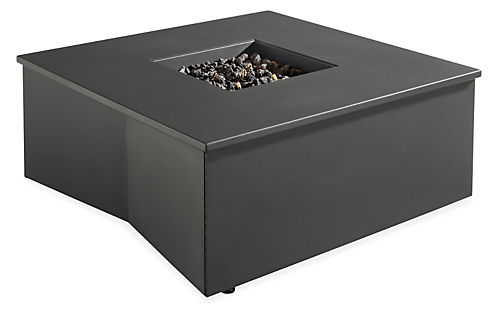 Adara 37w 37d 15h Outdoor Fire Table with Propane Tank