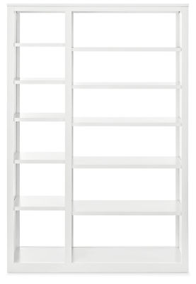 Woodwind 48w 17d 72h Double Open-Back Bookcase