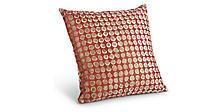 Dot Pillows in Garnet