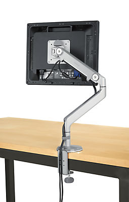 M2� Monitor Arm in Silver with Gray Trim