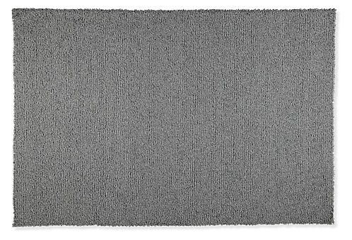 Arden High Loop Wool Rug Modern Solid Rugs Entryway Furniture Room Board