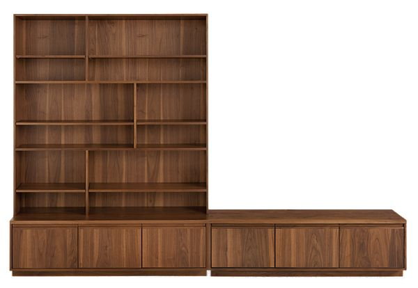 Keaton Bookcase Wall Units Mid