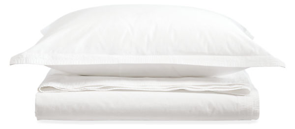 Top-Stitch Percale Full/Queen Duvet Cover