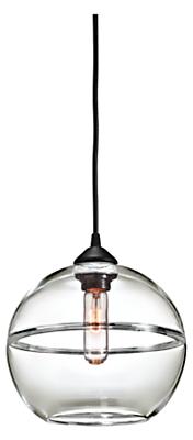 Banded Large Globe Pendant