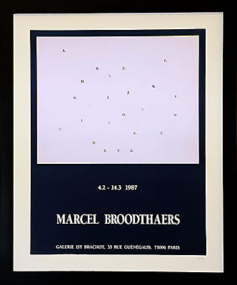 Vintage French Gallery Poster, Marcel Broodthaers