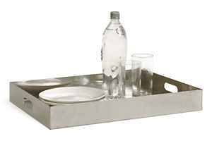 Steel Rectangle Tray in Stainless Steel