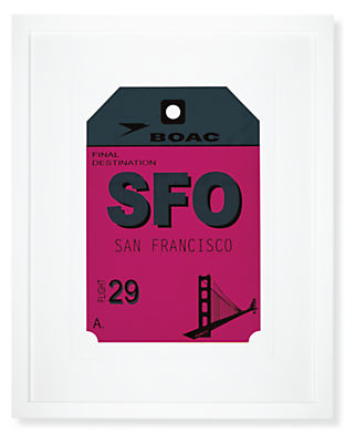 San Francisco Destination Tag, SFO