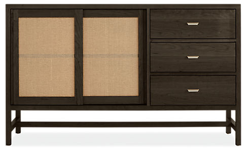 Berkeley 60w 16d 36h Storage Cabinet with Brushed Nickel Pulls