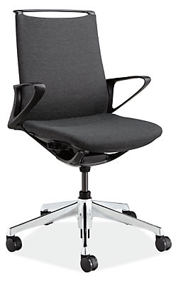 plimode office chair in black - modern office chairs & task chairs