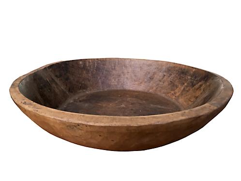 Jaipur Vintage Teak Bowl - Large
