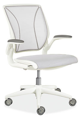 diffrient world white office chair - modern office chairs & task