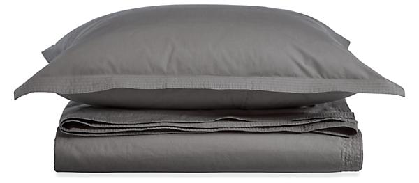Top-Stitch Percale Full/Queen Duvet Cover