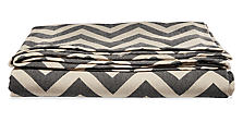 Ascent Chevron King Blanket in Black/Oatmeal