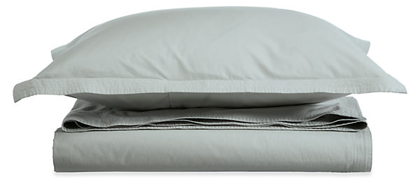Top-Stitch Percale Twin Duvet Cover