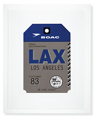 Los Angeles Destination Tag, LAX
