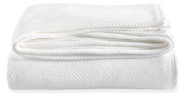 Chevron Weave Cotton Stroller Blanket