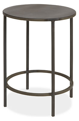 Slim Round Natural Steel End Tables Modern End Tables Modern - Round end table with doors