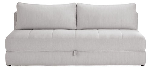 Bruno 80 Armless Convertible Sleeper Sofa Without Mattress Topper
