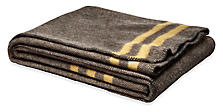 Haven Stripe Throw in Charcoal/Gold
