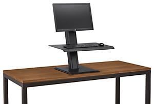 QuickStand Eco Single Monitor Adjustable Work Station