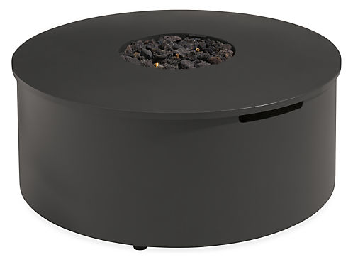 Adara 36 diam 15h Round Outdoor Fire Table with Natural Gas Hook-Up