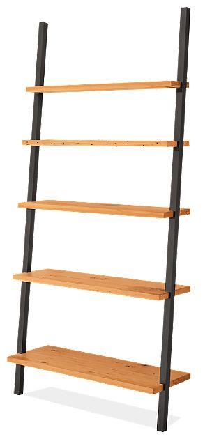 Leaning Shelves In Reclaimed Wood