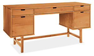 Ellis 66w 22d 30h Double File Drawer Desk