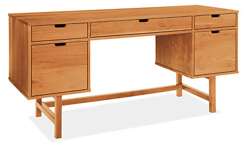 Ellis 66w 22d 30h Double File Drawer Desk