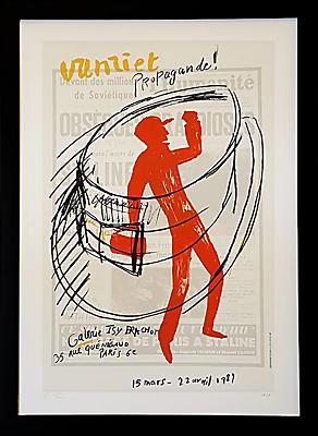 Vintage French Gallery Poster, Jan Vanriet