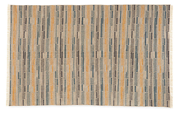 Morse 6'x9' Wool Rug in Grey/Gold