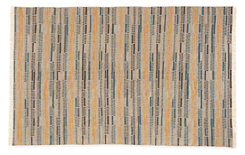 Morse 3'x5' Wool Rug in Grey/Gold