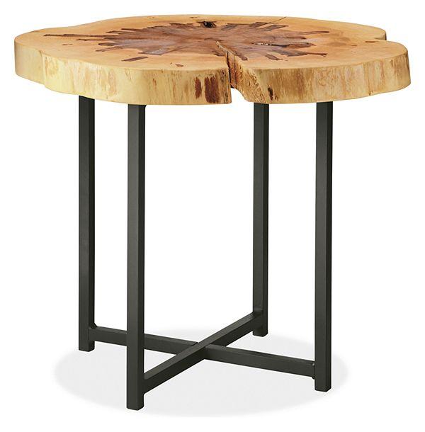 Allard End Tables in Natural Steel