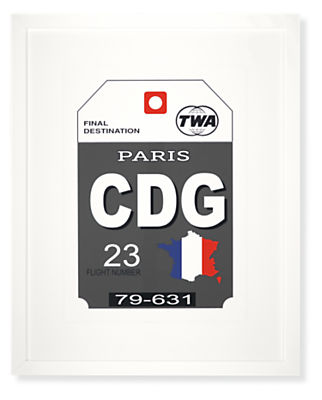 Paris Destination Tag, CDG